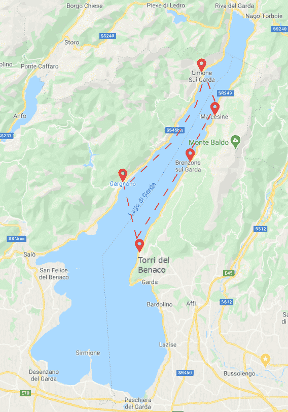 Location on Lake Garda