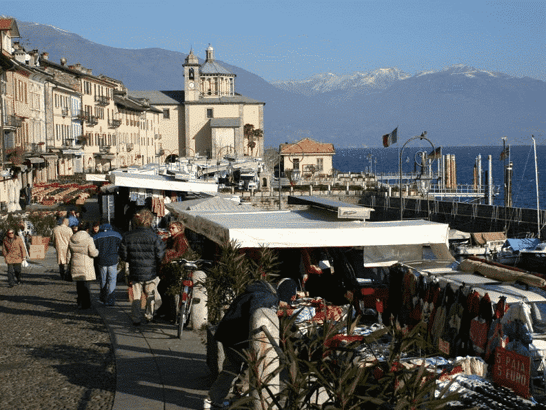 Market on Lake Garda